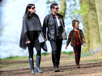 Liv Tyler and partner Dave Gardner hand in hand with Dave's son Gray