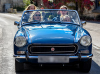 Kate Moss driving her MG Midget