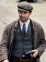 "Actor Michiel Huisman on set of ""Guernsey"""
