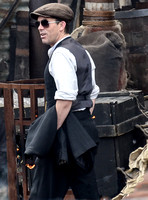 Packy Lee filming Peaky Blinders