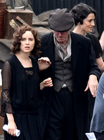 Sophie Rundle and Ned Denehyon set of Peaky Blinders
