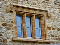 "Stone mullion ""Crittall"" window"