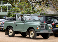 David and Harper Beckham in Land Rover pick-up