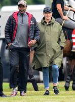 pregnant Zara Tindall at polo match