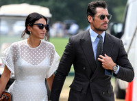 celebrity guests David Gandy and Stephanie Mendoros at  Gold Cup Polo 2018