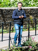 Andrew Lincoln casually dressed, alone