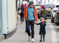 Jamie Dornan with daughter
