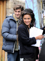 Mathew Baynton and Karla Crome posting a missing persons notice for Karla's 6 year old on screen daughter Frankie.