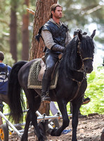 Chris Hemsworth on horseback alone
