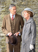 Penelope Wilton and Douglas Reith in costume on set photograph