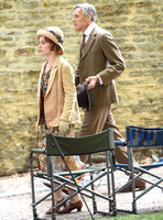 Douglas Reith and Phoebe Sparrow on set photograph for Downton Abbey