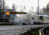 NEWS: Petrol Station Fire, Gloucester - 8th March, 2014
