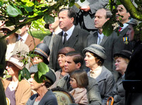 Downton Abbey cast seated for service of Dedication for War Memorial