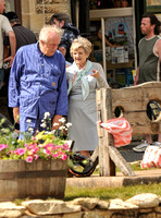 Sir Michael Gambon and Julia McKenzie in market place
