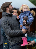 Jamie Doenan, Amelia Warner and daughter Dulcie pictured at Farmers Market