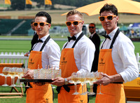 Celebrities at the Veuve Clicquot Gold Cup Final at Cowdray Park Polo Club, Midhurst, England. - July 20th, 2014