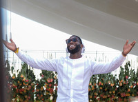 Tinie Tempah on the decks at Veuved Clicquot Gold Cup
