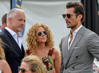 David Gandy with Kelly Hoppen