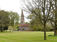 St Mark's church, Englefield, exterior views