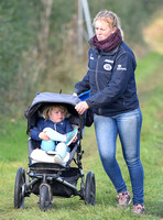 Mia Tindall in baby buggy