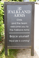 signage outside,The Falkland Arms, Great Tew