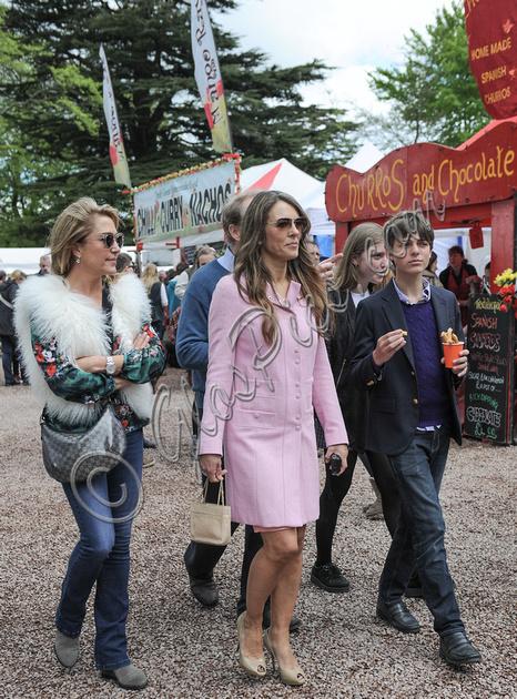 GlosPics | Elizabeth Hurley opens Chilli Festival at ...