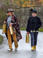 Kate Moss delivering festive gifts