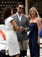 David gandy, Stephanie Mendoros and Clare Milford Haven