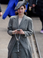 Lily James wearing 1940's