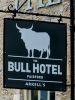 "external view of ""The Bull Hotel"" Fairford"