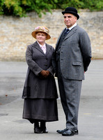 """Downton Abbey"" season 4 filming in Bampton, Oxfordshire - 6th and 7th August, 2013"