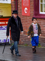Nicolas Cage morphs Dickens and Willy Wonka shopping with Kal-El