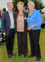Cllr Paul James, Cllr Pam Tracey MBE and Dame Janet Trotter OBE