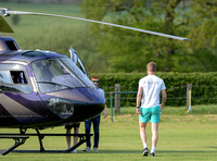 Cressida Bonas leaves by helicopter
