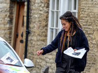 Karla Crome posting notices to find her missing daughter