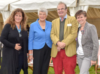 Countess Sara Bathurst, High Sheriff of Gloucester, Dame Janet Trotter OBE, His Honour Judge Jamie Tabor QC and Chief Constable Suzette Davenport