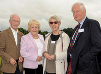 Peter and Susan Hickman with Colonel Michael E Bennett OBE, Deputy Lieutenant of Gloucester and Jane  Bennett