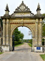 entrance gates into the Englefield Estate