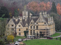 film crew outside at Woodchester Mansion