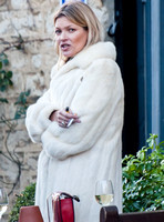 Kate Moss on Christmas Eve , Oxfordshire - 24th December, 2013