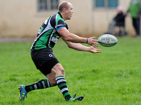 Mike Tindall playing rugby in Minchinhampton RFC colours