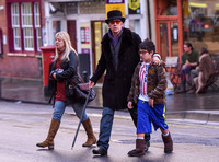 Nicolas Cage morphs Dickens and Willy Wonka shopping with Kal-El and housekeeper.